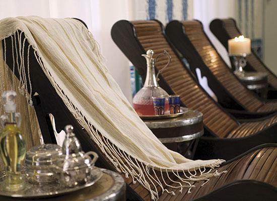hammam bleu - chaise lounge